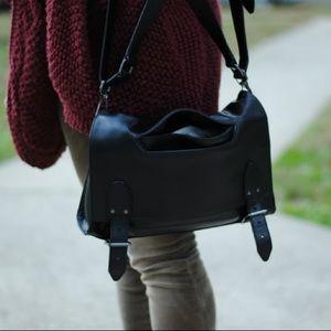 Theysken's Theory | black leather cross body bag
